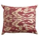 Silk Ikat Pillow Cover - Fuchsia