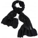 Black and White Silk Based Felt Scarf