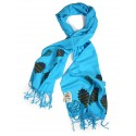 Bedri Rahmi Blue Pashmina shawl
