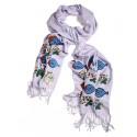 Bedri Rahmi Violet Pashmina shawl