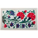 Carnation Iznik Ceramic Tray