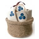Turkish Hamam Towel / Pestemal Set - Cintemani Ornamented