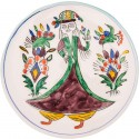Kütahya Pretty Girls Ceramic Plate - Large Purple
