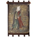 Suleyman the Magnificient and İstanbul Ottoman Miniature Knitted Wall Board