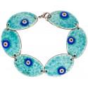 Turquoise Evil Eye Enamel Bracelet - 2