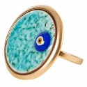 Evil Eye Enamel Ring - L