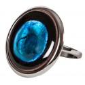 Blue Enamel Ring - L