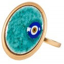 Evil Eye Enamel Ring - S