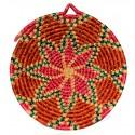 Basket Wall Decor- Flower Patterned