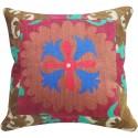 Suzani Pink and Blue Pillow Slip