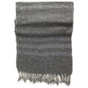 Grey Kirmen Silk Wrap with Blue Stripe