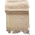 Natural Creme Kirmen Silk Wrap
