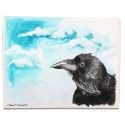 Thinking Crow Oil on Canvas iPad Mini Case/Wallet