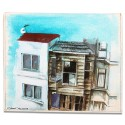 My Neighbors in Arnavutkoy Oil on Canvas iPad Mini Case/Wallet