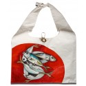 Oil on Canvas Horse Mackerels on the Red Stall Tote Bag