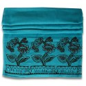 Block Printed Pareo - Turquoise