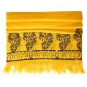 Block Printed Pareo - Yellow