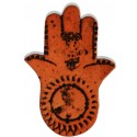 Fatima's Hand (Hamsa) Ceramic Tablet - Orange 1