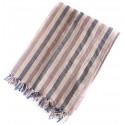 Linen Turkish Towel / Pestemal - Blue Violet Stripe