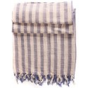 Linen Turkish Towel / Pestemal - Blue Stripe