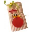 Pestemal /Turkish Hamam Towel - Orange Striped