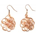 Armor Chain Round Copper Earrings - Small