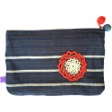 Kutnu Wallet - Dark Blue Striped