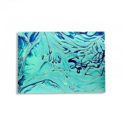Blue Marbling Art Tableau