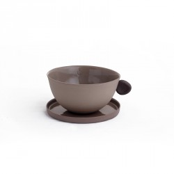 400.000 Years of Istanbul - Porcelain Teacup & Coffeecup Set - Brown