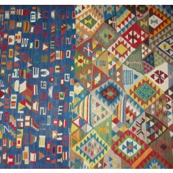 Mixed Design Kilim - Weaved by Berivan Yılmaz