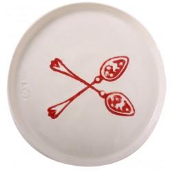 Double Spoon Porcelain Plate