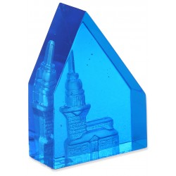Maiden's Tower Glass Paperweight