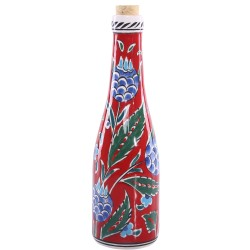 Pomegranate Pattern Ceramic Bottle