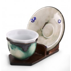 Copper Enameled Turkish Coffee Cup / Espresso Cup - Cream