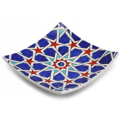 Blue Star-transition Patterned Plate