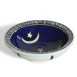 Moon and Star Patterned Ceramic Bowl