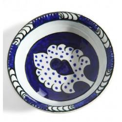Seljuk Style Ceramic Cobalt Blue Plate