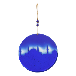 Hagia Sophia Cobalt Blue Glass Wall Decoration