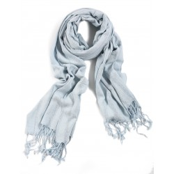 Silk and Linen Scarf - Blue