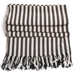 Turkish Hamam Towel / Pestemal with Black Stripes