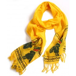 Block Printed Scarf - Yellow