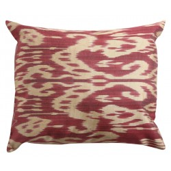 Silk Ikat Pillow Cover - Fuchsia