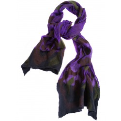 Purple and Green Felt Scarf