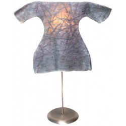 Grey Caftan Felt Table Lampshade