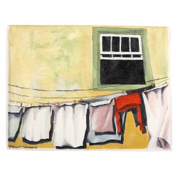 Laundry Oil on Canvas iPad Case / Wallet