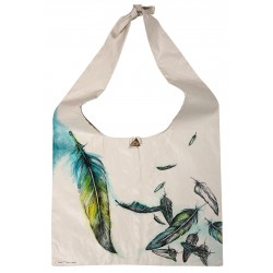 Oil on Canvas Bird's Feathers Tote Bag