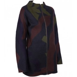 Camouflage Felt Coat