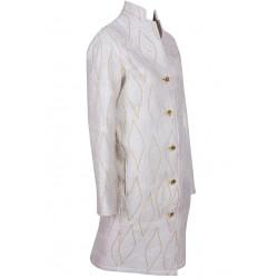 Cream Felt Coat