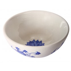 Iznik Porcelain Bowl with Lotus Pattern