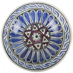 Early Ottoman Period Iznik Ceramic Plate - 16 cm